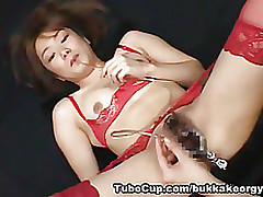 japanesebukkakeorgy: maniac asian bondage cumshot facial komori