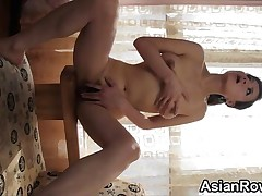 amateur babe tits asian brunette chinese hairy solo