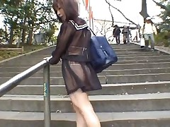 amateur interracial public asian flashing japanese outdoors