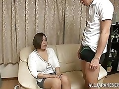 reiko yumeno japanese beauty shows mammoth mangos blowjob cumshot mature