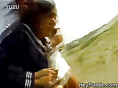 perv takes advantage lonely japanese schoolgirl jav asian oriental outdoor