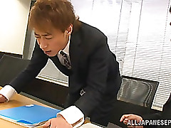 mayu kamiya oriental lady office clothing enjoys rear fuck blowjob