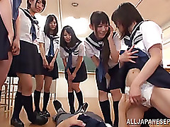 sticky japanese girls school uniforms damp group function blowjob cumshot