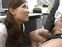 haruka sasaki spectacular oriental policy bedroom office blowjob cumshot hardcore