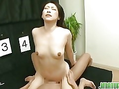 japanese woman plays guessing game companion asian hardcore matures