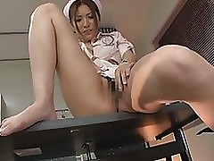moist nurse yuna shiina rides weenie accepts ball batter mangos