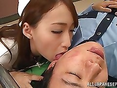 japanese pattern moist nurse enjoying tractable cumshot hardcore milf stockings