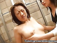 japanesebukkakeorgy: sex cream slave asian cumshot facial komori