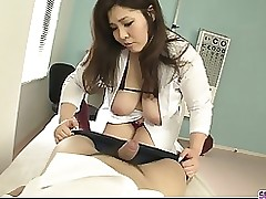 slimy titsy nurse giving head sticking cum hole asian blowjob