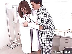 pleasing eastern nurse meguri enjoys resigned exam blowjob hardcore facial
