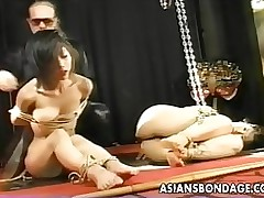 double chinese strumpets bound shoved proded asiansbondage sadomasochism jav japanese