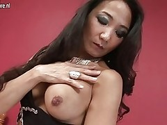 sticky japanese milf playing amateur asian matures milfs grannies