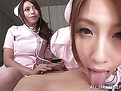 risa mizuki sticky japanese milf enjoying patients comrade blowjob cumshot